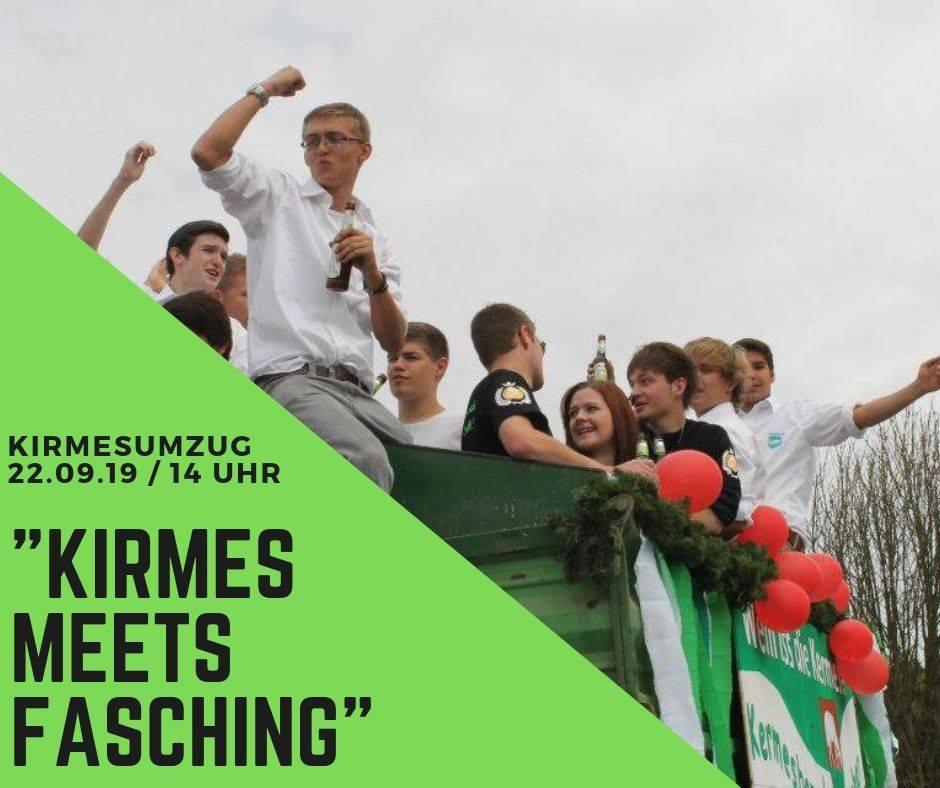 Kirmes Meets Fasching - Das Motto des Kirmesumzuges 2019